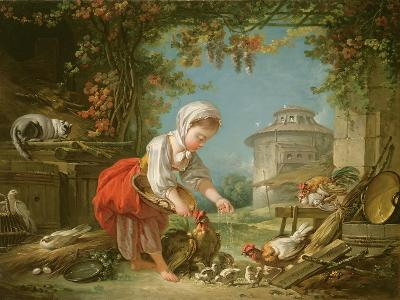 The Little Farm Maid, 1752-Francois Boucher-Giclee Print