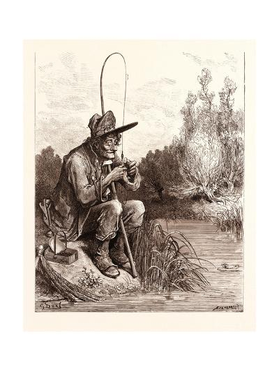 The Little Fish and the Fisherman-Gustave Dore-Giclee Print