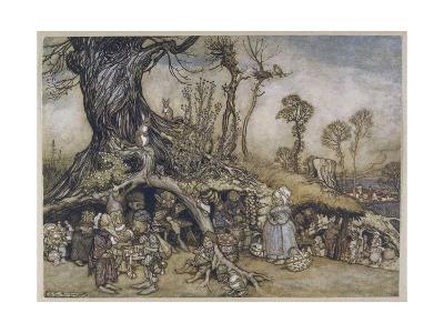 The Little Folk's Market-Arthur Rackham-Giclee Print