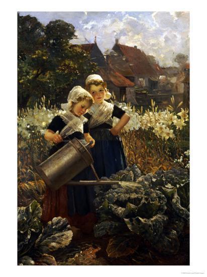 The Little Gardeners-Edmond Louyot-Giclee Print