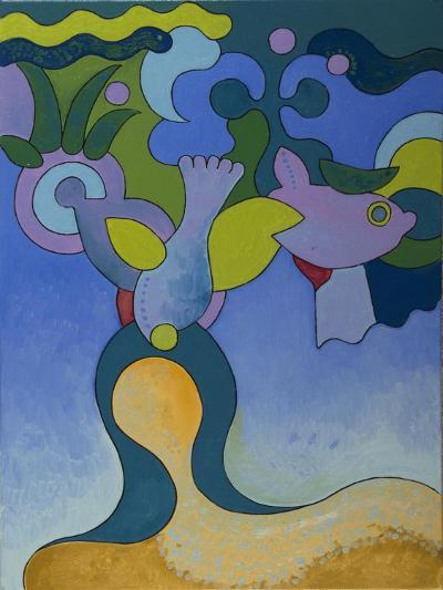 The Little Mermaid in Polluted Waters, 2007-Jan Groneberg-Giclee Print
