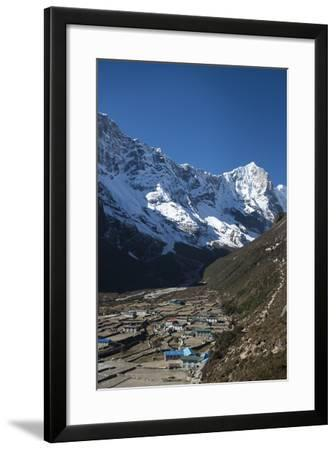 The little mountain village and monastery of Thame in the Khumbu Region, Nepal, Himalayas, Asia-Alex Treadway-Framed Photographic Print