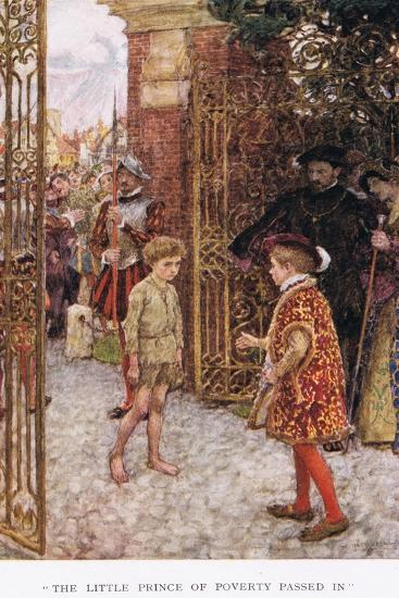 The Little Prince of Poverty Passed In', 1923-Arthur C. Michael-Giclee Print