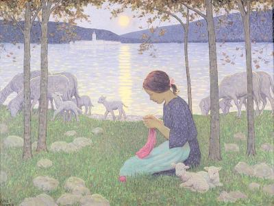 The Little Shepherdess-Janet Fisher-Giclee Print