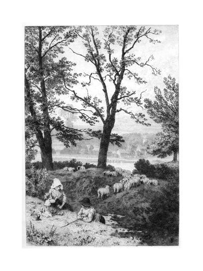 The Little Shepherds, C1930S-Birket Foster-Giclee Print