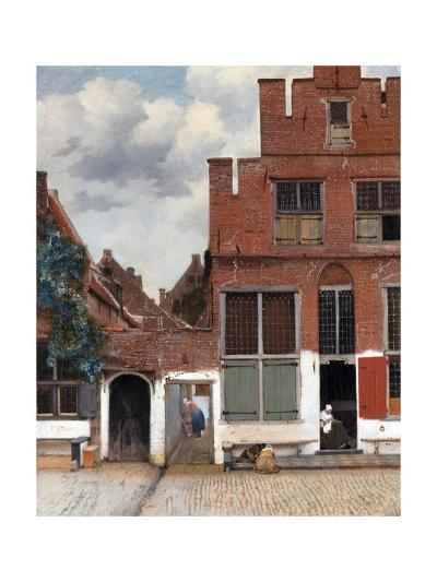 The Little Street (View of Houses in Delft)-Johannes Vermeer-Giclee Print