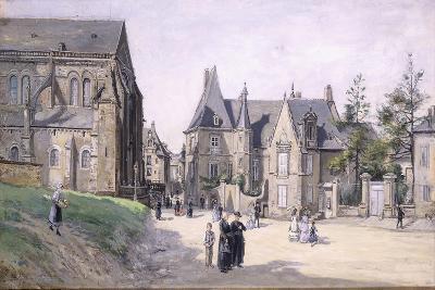 The Little Village Square; La Petite Place Du Cillage, 1870-Ludovic Piette-Giclee Print