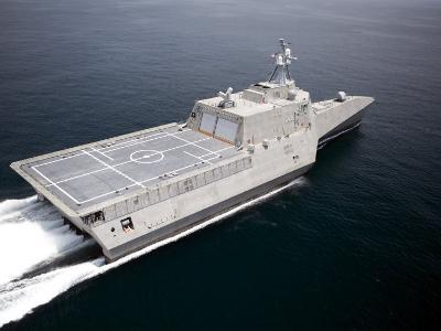 The Littoral Combat Ship Independence Underway During Builder's Trials in the Gulf of Mexico--Photographic Print