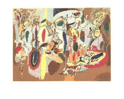 The Liver is the Cock's Comb-Arshile Gorky-Serigraph