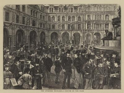 The Liverpool Exchange, a Sketch on the Flags-Henry Woods-Giclee Print