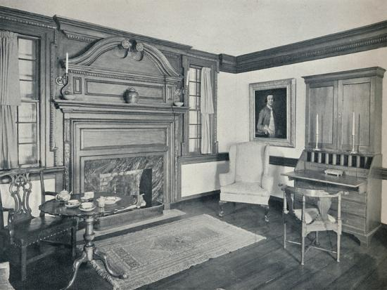 'The Living Room of the Francis Corbin House, at Edenton, built in 1758', 1930-Unknown-Photographic Print