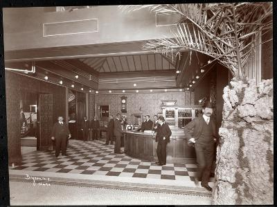 The Lobby and Registration Desk at the Hotel Victoria, 1900 or 1901-Byron Company-Giclee Print