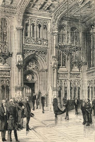 The Lobby of the House of Commons, C1910--Giclee Print