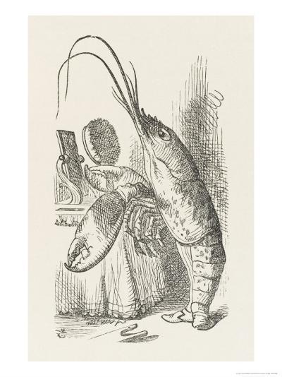 The Lobster at His Toilet-John Tenniel-Giclee Print