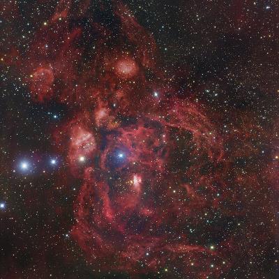 The Lobster Nebula in Scorpius, NGC 6357-Robert Gendler-Photographic Print