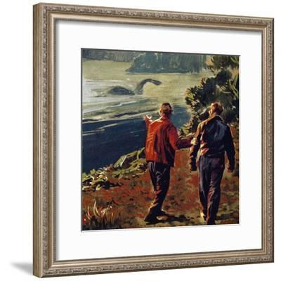 The Loch Ness Monster Was Often Seen in the 1930S--Framed Giclee Print