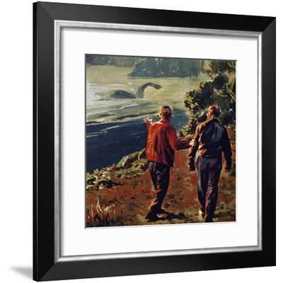 The Loch Ness Monster Was Often Seen in the 1930S--Framed Giclee Print