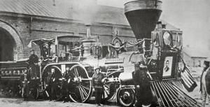 The Locomotive that Pulled the Funeral Train of Abraham Lincoln