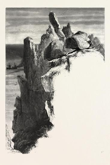 The Logan Rock, the Land's End, Uk, 19th Century--Giclee Print