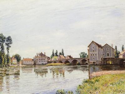 The Loing Below the Pont De Moret, 1892-Alfred Sisley-Giclee Print
