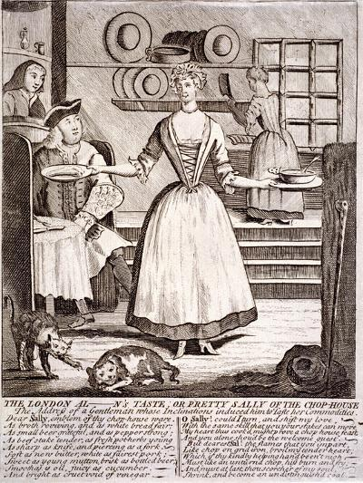 The London Al - N's Taste, or Pretty Sally of the Chop-House, 1750--Giclee Print
