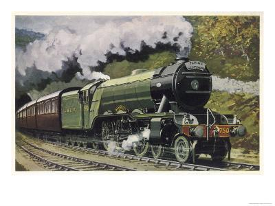 """The London and North Eastern Railway's """"Flying Scotsman"""" Express--Giclee Print"""