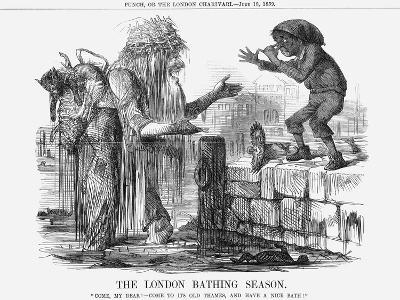 The London Bathing Season, 1859--Giclee Print