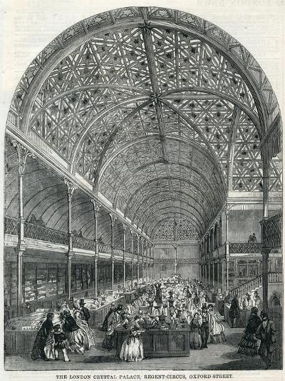 The London Crystal Palace, Regent Circus, Oxford Street, 1858--Giclee Print