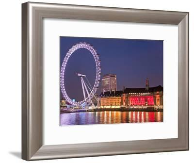 The London 'Eye' or Millennium Wheel-Richard Nowitz-Framed Photographic Print