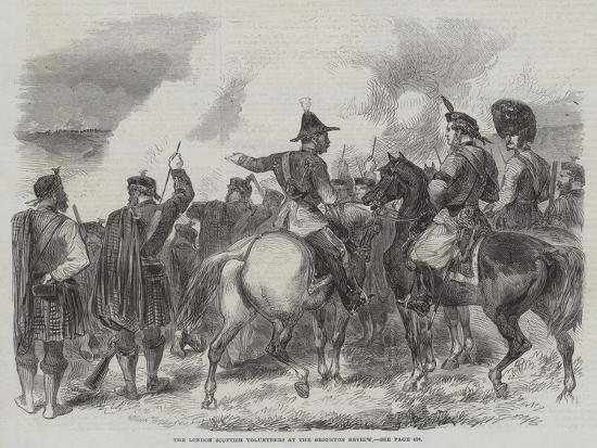 The London Scottish Volunteers at the Brighton Review--Giclee Print
