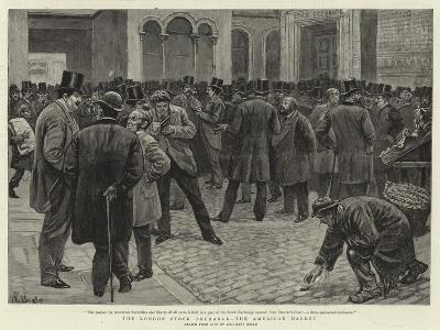 The London Stock Exchange, the American Market-William Lockhart Bogle-Giclee Print