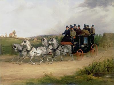 The London to Brighton Stage Coach-William Joseph Shayer-Giclee Print