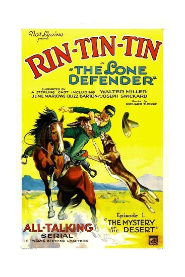 THE LONE DEFENDER, right: Rin-Tin-Tin in 'Chapter 1: The Mystery of the Desert', 1930--Art Print