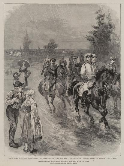 The Long-Distance Horse-Race by Officers of the German and Austrian Armies Between Berlin and Vienn--Giclee Print