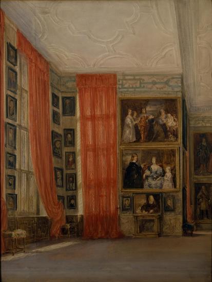 The Long Gallery at Hardwick-David Cox-Giclee Print