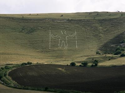 The Long Man, Wilmington, East Sussex, England, United Kingdom-Walter Rawlings-Photographic Print