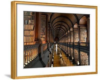 The Long Room in the Old Library at Trinity College in Dublin-Chris Hill-Framed Photographic Print