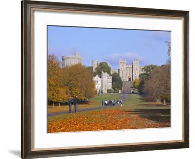 The Long Walk, Windsor Castle, Berkshire, England-Alan Copson-Framed Photographic Print