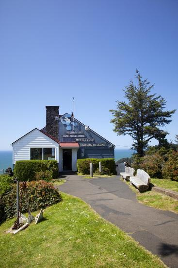 The Lookout Observatory and Gift Shop, Cape Foulweather, Oregon, USA-Jamie & Judy Wild-Photographic Print