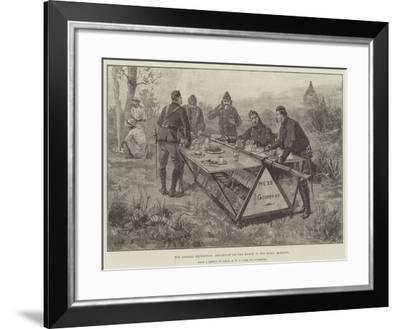 The Looshai Expedition, Breakfast on the March in the Early Morning-William Heysham Overend-Framed Giclee Print