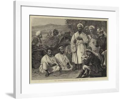The Looshai Expedition, Sketching the Aborigines-Joseph Nash-Framed Giclee Print