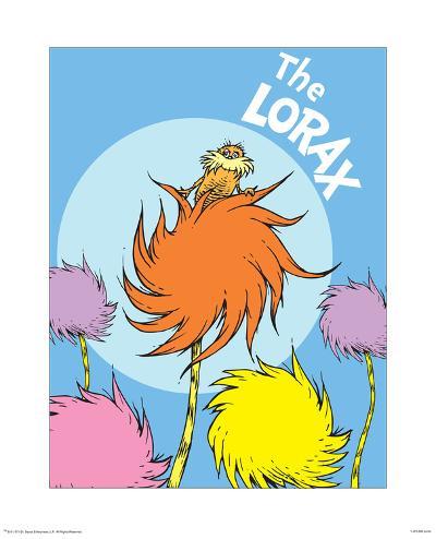 The Lorax (on blue)-Theodor (Dr. Seuss) Geisel-Art Print