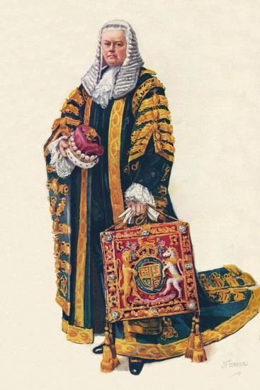 The Lord Chancellor in His Coronation Robes, 1937--Giclee Print