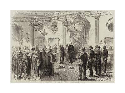 The Lord Lieutenant Holding a State Reception at Dublin Castle--Giclee Print