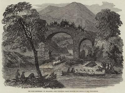 The Lord-Lieutenant in Killarney, the Viceregal Barge Shooting the Rapids of Old Weir-Bridge--Giclee Print