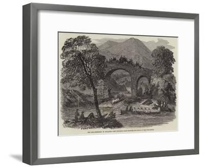 The Lord-Lieutenant in Killarney, the Viceregal Barge Shooting the Rapids of Old Weir-Bridge--Framed Giclee Print