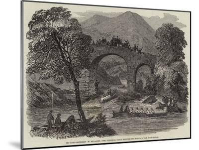 The Lord-Lieutenant in Killarney, the Viceregal Barge Shooting the Rapids of Old Weir-Bridge--Mounted Giclee Print