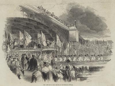 The Lord Mayor Embarking at Southwark Bridge--Giclee Print