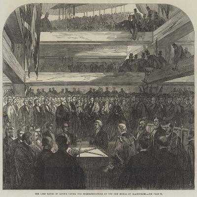 The Lord Mayor of London Laying the Foundation-Stone of the New Bridge at Blackfriars--Giclee Print