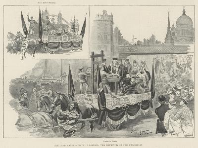 The Lord Mayor's Show in London, Two Novelties in the Procession--Giclee Print